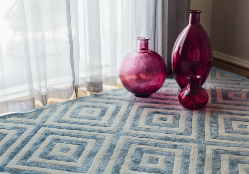 """The Sky Rug"" from $3,500 – Pure New Zealand Wool and Silk Mix – Mezzanine – Hand Tufted"