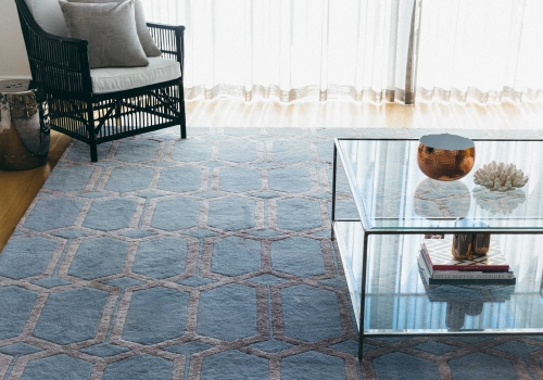 """The Opulence Rug"" from $3,500 – Pure New Zealand Wool and Silk Blend – Hand Tufted – Formal Living Area"