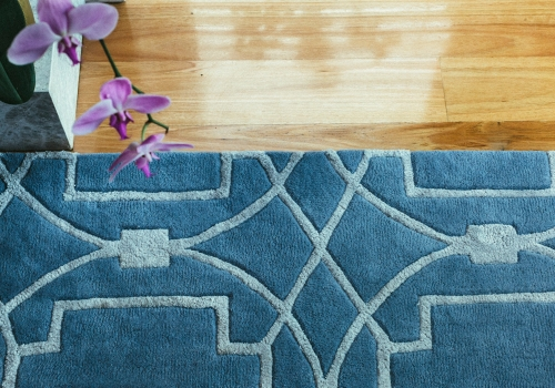 """""""Under The Sea"""" from $3,500 – Pure New Zealand Wool – Hand Tufted – Formal living room"""